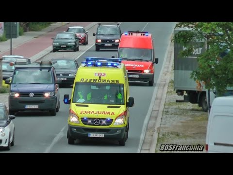 Ambulance + Unit 78 (transporting a TV-Crew) Brandweer Gent