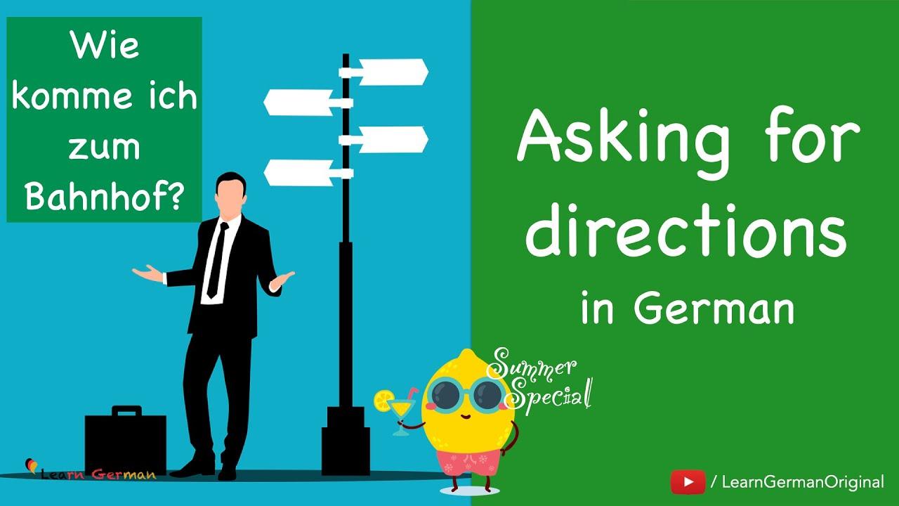 Asking for directions   nach dem Weg fragen   Deutsch im Alltag   Learn German   A1-A2