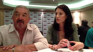 SciFi Vision: Fan Expo Canada 2013 - Defiance Press Room - Graham Greene, Jaime Murray, Nicole Muñoz