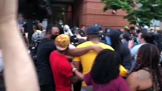 Clash between Boston police, protesters outside South End precinct