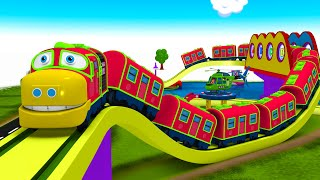 Choo Choo Chuggi Train - Red Chuggi Toy Train Cartoon Toy Factory