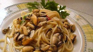 Спагетти с Мидиями Spagetti con le Cozze in Bianco Italia