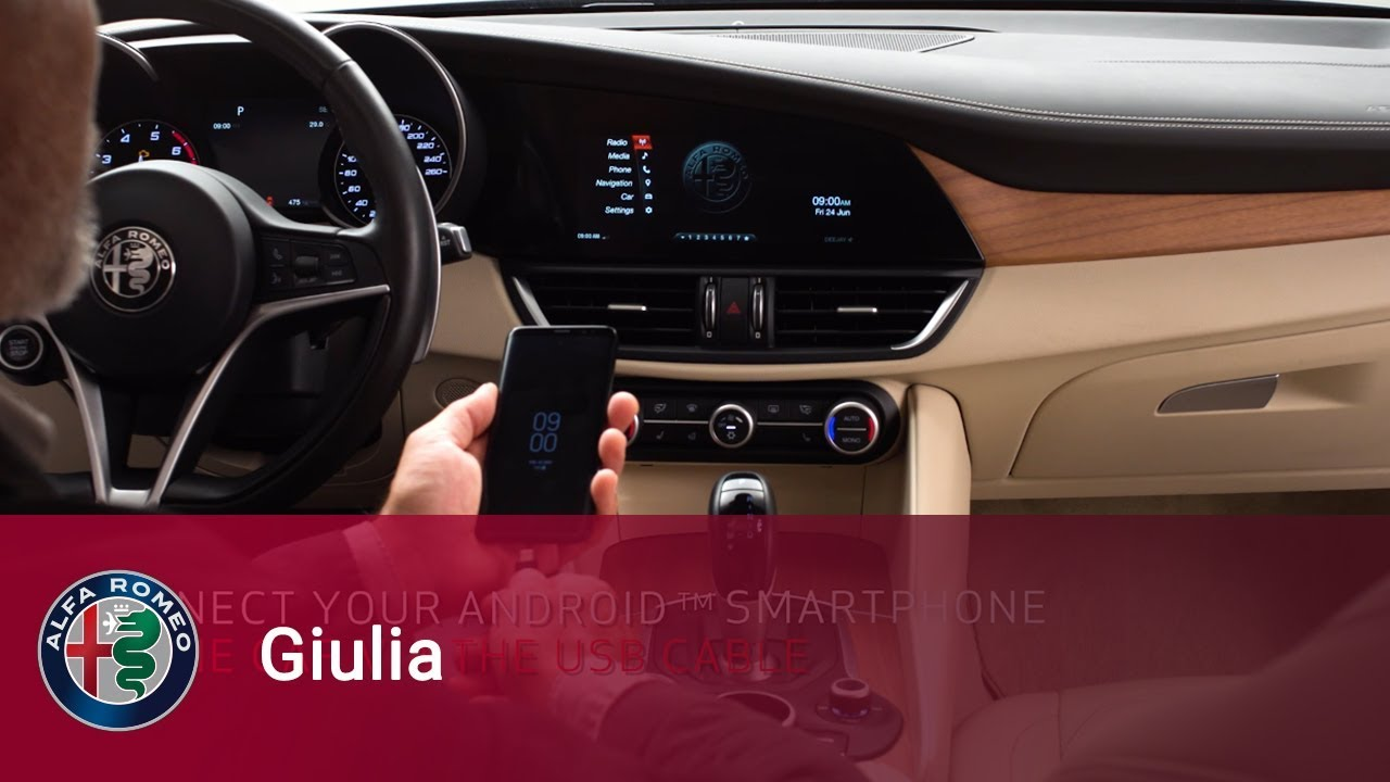 Alfa Romeo Giulia - Android Auto for Android devices - YouTube