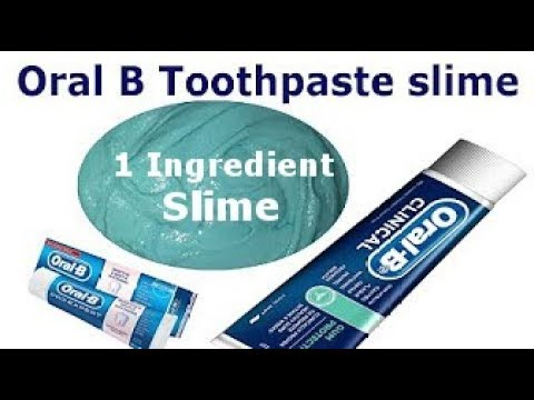 Oral b toothpaste 1 Ingredient Slime, Only Toothpaste , Easy Slime Recipe,  No Glue, No Borax
