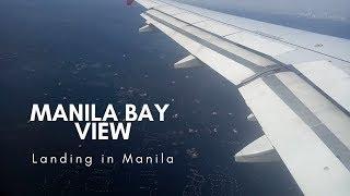 AIRASIA Landing in NAIA Airport Manila Bay View