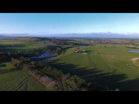 Gisborne South, Victoria - beautiful countryside aerial video