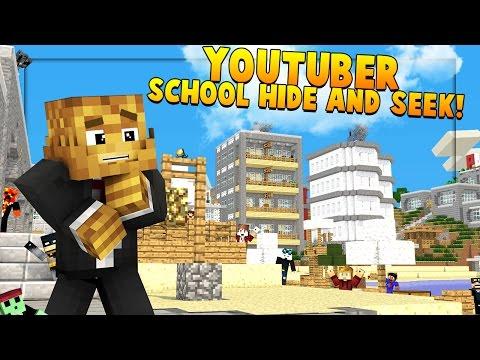 YOUTUBER SCHOOL HIDE AND SEEK MOD - Minecraft Mod