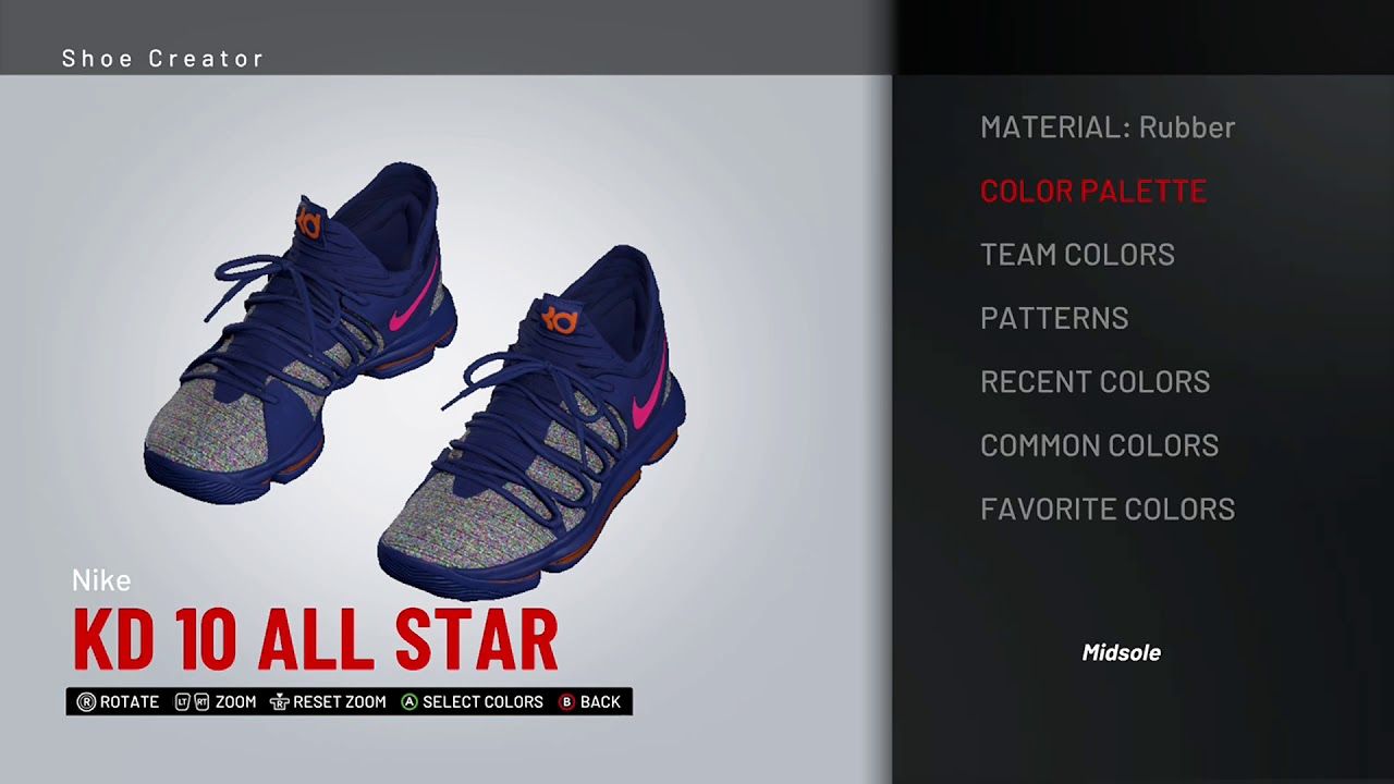 sports shoes 40dd9 a6dbd NBA 2K19 Shoe Creator - Nike KD 10