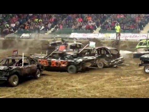 Capital City Carnage Topeka KS Demo Derby Limited Weld 4/30/16