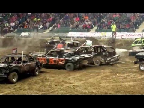 Capital City Carnage Topeka KS Demo Derby Limited Weld 4/30/16