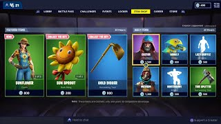 'NOUVEAU' HAYSEED - SUNFLOWER Skins - 6 mars Fortnite Daily Item Shop LIVE