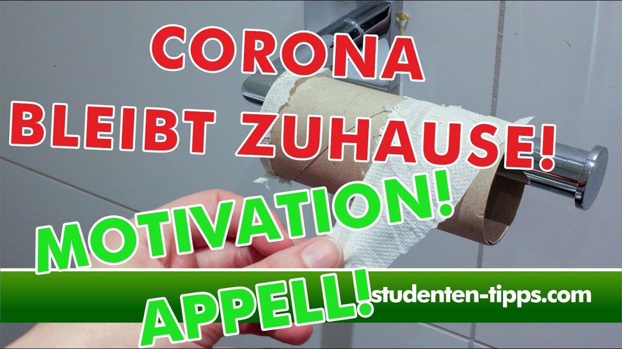 Corona - Was solltest du jetzt tun? Kurs kostenlos Motivation fürs Zuhausebleiben! Studenten-Tipps
