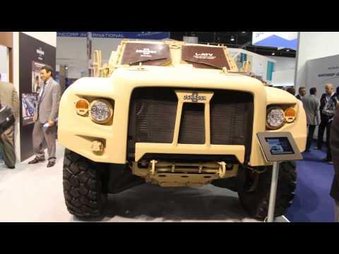 Oshkosh Light Combat Tactical All-Terrain Vehicle (L-ATV) international debut at IDEX 2013.