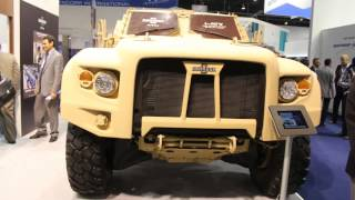 Oshkosh Light Combat Tactical All-Terrain Vehicle (L-ATV) international debut at IDEX 2013.