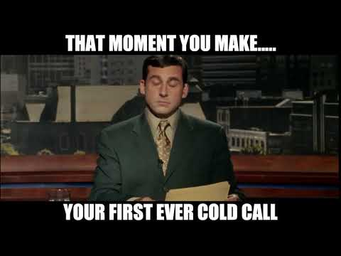 COLD CALLING FIRST COLD CALL SALES MEME GIF VIDEO PHONE FUNNY!!