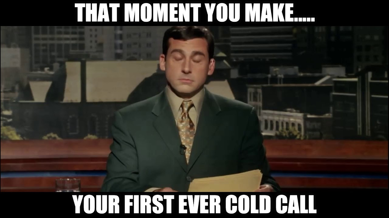 Cold Calling First Cold Call Sales Meme Gif Video Phone Funny