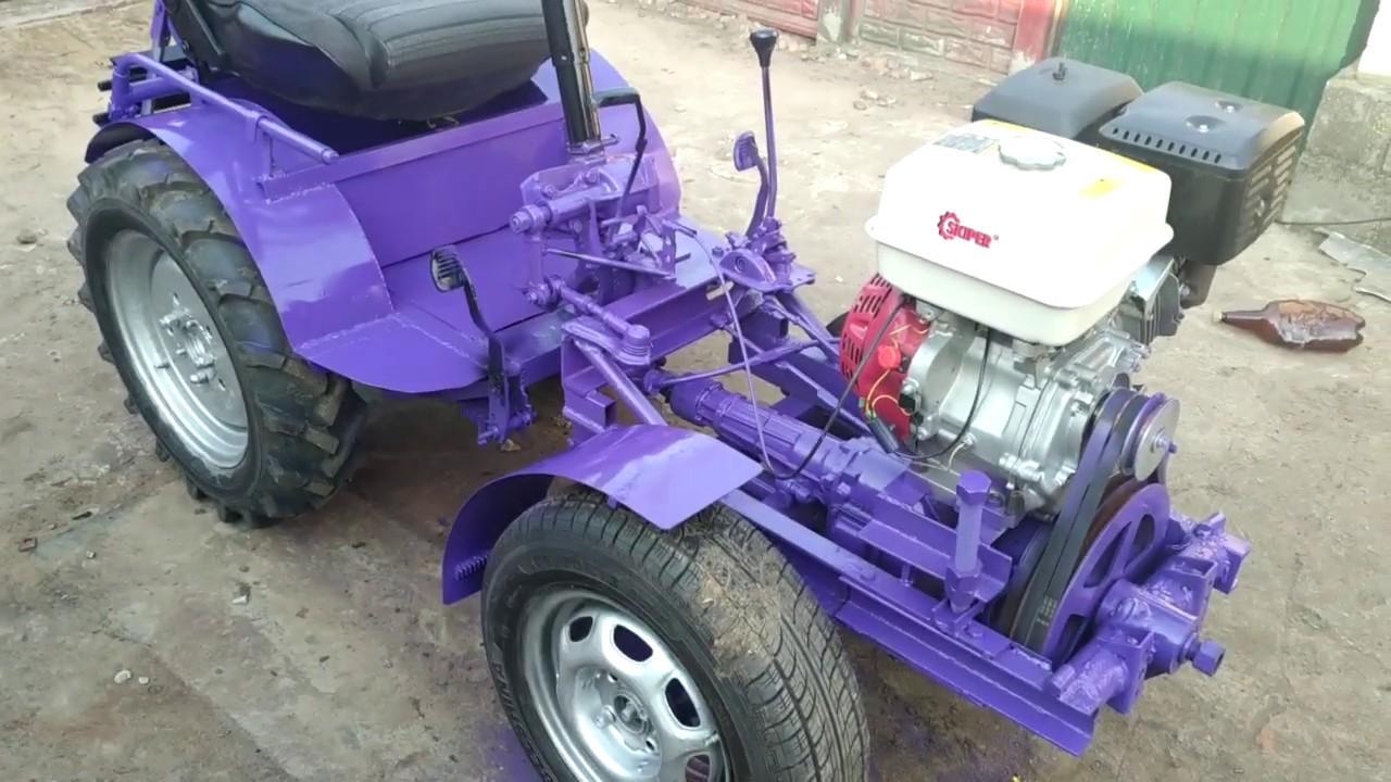 КРАСАВЧИК  мини-трактор самодельный. !!!