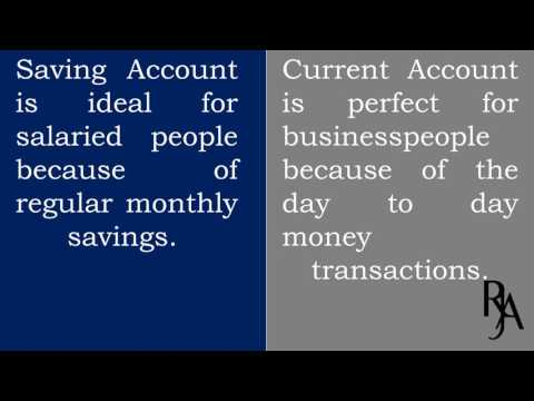 difference between saving and current account