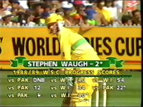 1989 Benson and Hedges First Final - Australia v West Indies