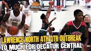 Lawrence North 4th Qtr Takeover TO MUCH FOR DECATUR CENTRAL Marion County Tournament