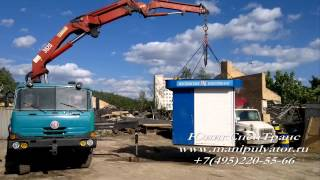 Кран-манипулятор - погрузка палатки(, 2012-07-23T04:12:29.000Z)