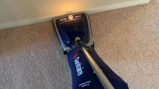Sanitaire vacuuming after carpet stretching. #carpettime.
