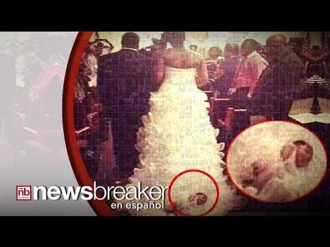 Novia causa controversia por atar a su bebé al tren de su vestido de ...