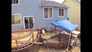 Time Lapse: Building a Curved Deck