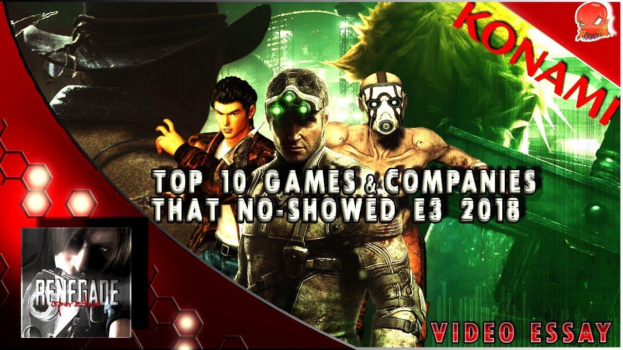 Video Essay: Top 10 Games & Companies That No-Showed E3 2018