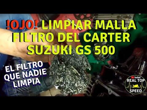 OJO LIMPIAR FILTRO DEL CARTER SUZUKI GS 500 PASO A PASO MANTENIMIENTO SINCRONIZAR CAMBIAR ACEITE
