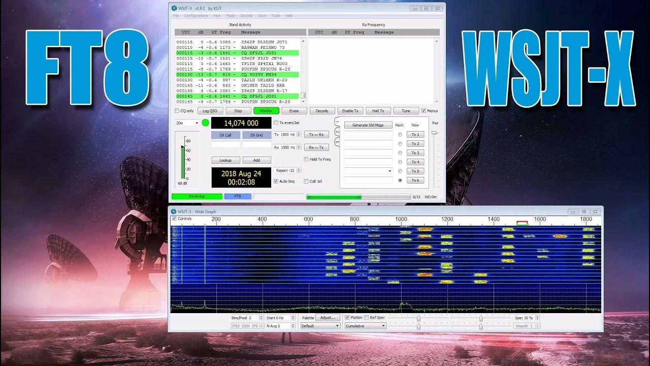 Digital Code FT8 mit WSJT-X auf Kurzwelle dekodieren decode (Aliens)