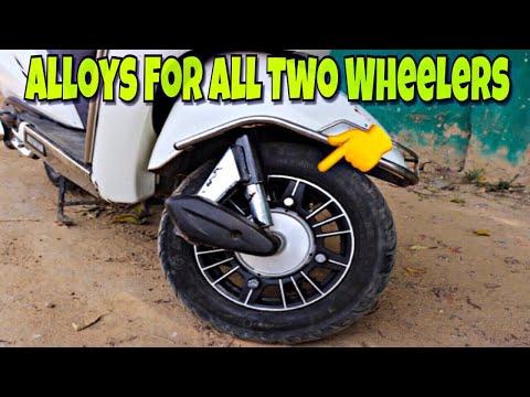 How To Install Alloy Wheels In Honda Activa || Techno khan