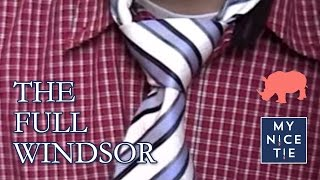 How to Tie a Tie: FULL WINDSOR (slow=beginner) | How to Tie a Full Windsor Knot (step-by-step)