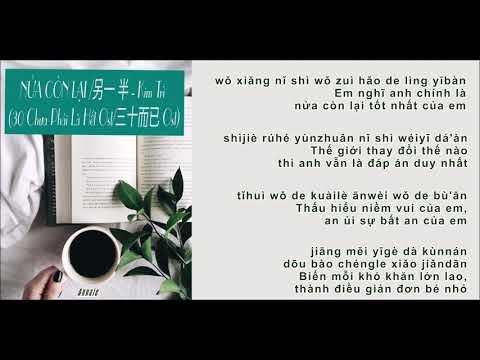 [vietsub - pinyin] NỬA CÒN LẠI - Kim Trì  (30 Chưa Phải Là Hết Ost)