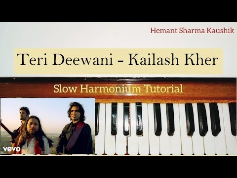 Teri Deewani Kailash Kher Harmonium Notes (Tutorial Notations)