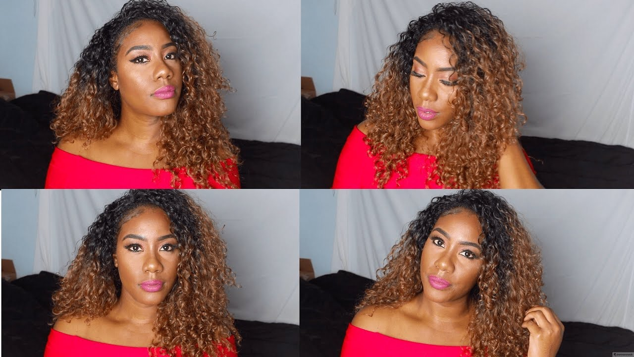 Most Affordable curly wig only  13-Outre Penny DR30 - YouTube 665b624460
