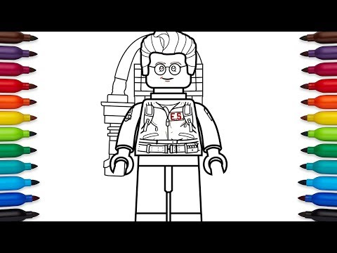 How To Draw Lego Dr Egon Spengler From Ghostbusters 1984 Youtube