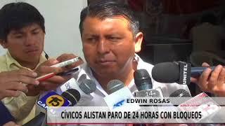 CÍVICOS ALISTAN PARO DE 24 HRS