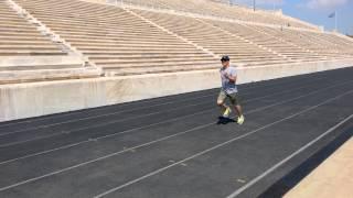 Estadio Panathinaiko  compitiendo