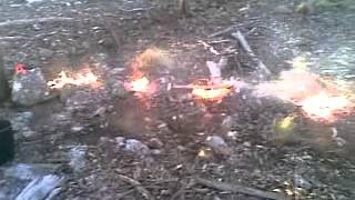 Solo Hazard Reduction Burn #16, Clip 1... Burning Off The Fence, In The Forest.