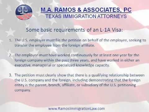 L Visas for Executives and Managers