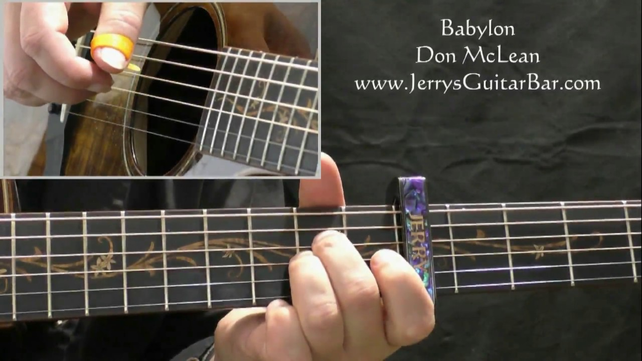 How To Play Don Mclean Babylon Intro Only Youtube