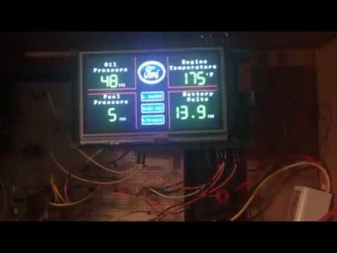 Arduino digital gauge display