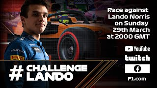Lando Norris races fans on the F1 2019 game | #ChallengeLando