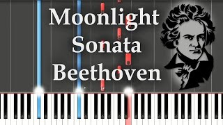 Moonlight Sonata 1st Movement - Opus 27 No. 2 (tutorial) Лунная соната (как играть)