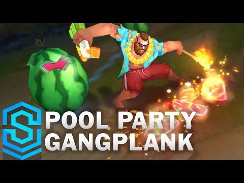Pool Party Gangplank Skin Spotlight - Pre-Release - League of Legends