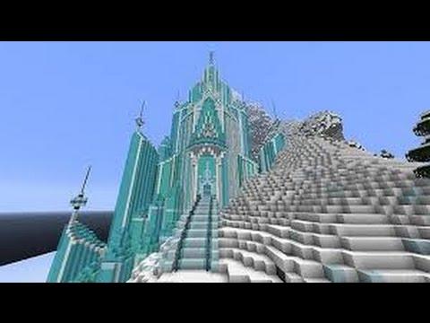 Exploring Elsas Ice Palace Minecraft Youtube