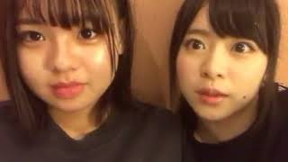 2017年10月8日 倉野尾成美showroomより らんりー予想は歌唱班とダンス班...