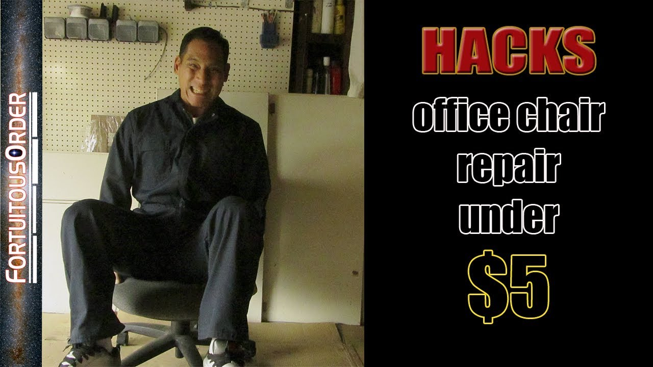 Sinking Office Chair hack with PVC pipe