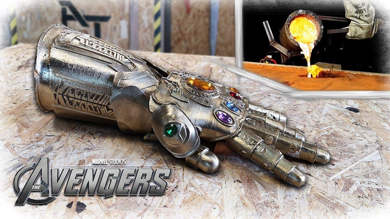 Casting REAL BRONZE THANOS Infinity Gauntlet - (Avengers: Infinity War)